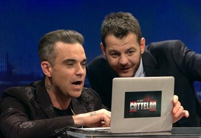 Robbie Williams e Alessandro Cattelan