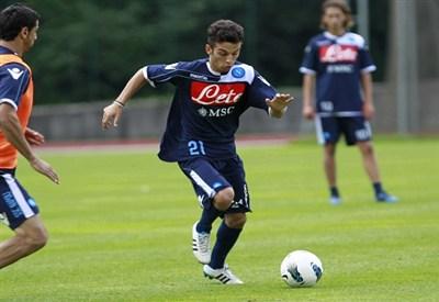 Roberto Insigne ha segnato oggi contro la Roma (Infophoto)