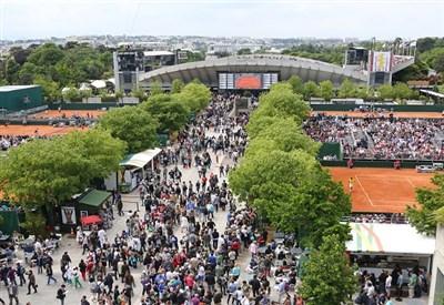 Affollamento allo Stade de Roland Garros