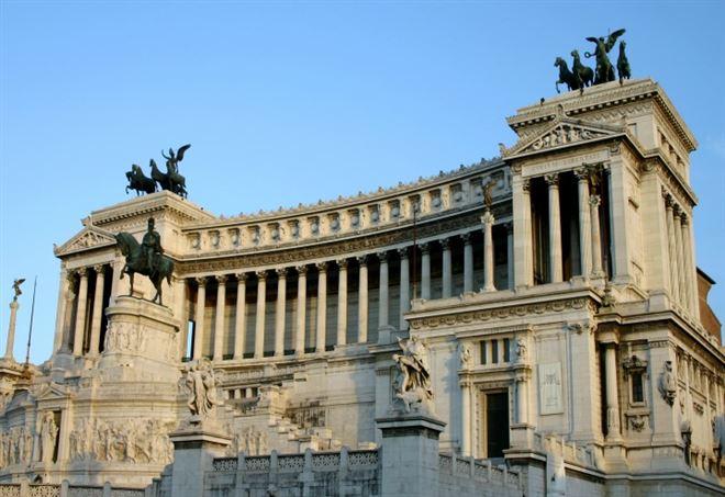 Il Vittoriano o Altare della Patria, uno dei simboli di Roma
