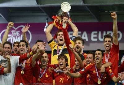 La Spagna è campione d'Europa per la terza volta, seconda consecutiva (Infophoto)