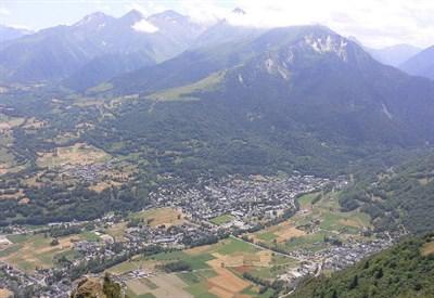 Una veduta panoramica di Saint-Lary-Soulan
