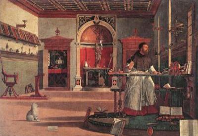 Vittore Carpaccio, Sant'Agostino nello studio (1502; immagine d'archivio)