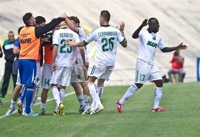 Il Sassuolo è alla prima stagione in serie A (Infophoto)