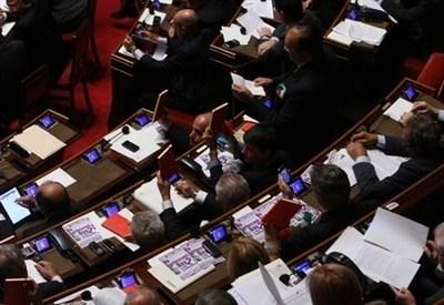 I banchi del Senato (Foto: Infophoto)