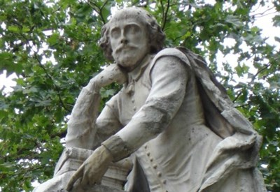 La statua di William Shakespeare