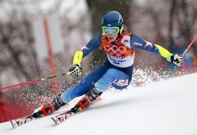 Mikaela Shiffrin in azione (Infophoto)
