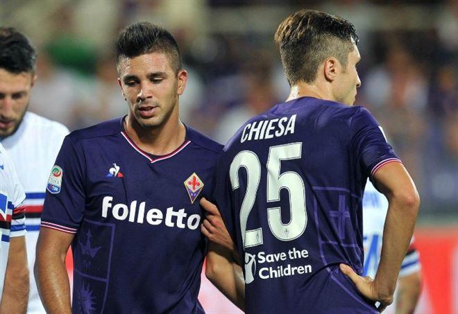 Fiorentina Sampdoria - Simeone e Chiesa (Foto: LaPresse)