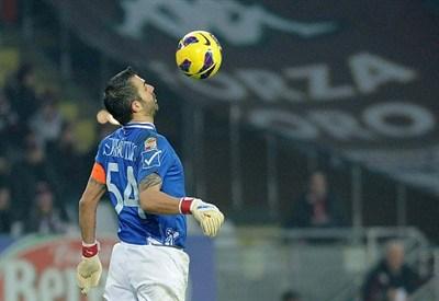 Stefano Sorrentino, portiere del Palermo (Infophoto)