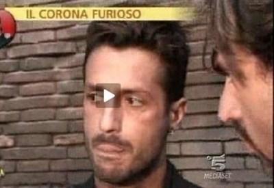 Fabrizio Corona e Valerio Staffelli