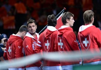 La nazionale svizzera di Coppa Davis (Infophoto)