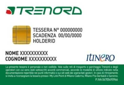 La tessera Itinero Trenord