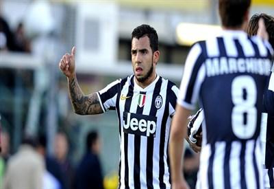 Carlitos Tevez, attaccante Juventus (Foto Infophoto)