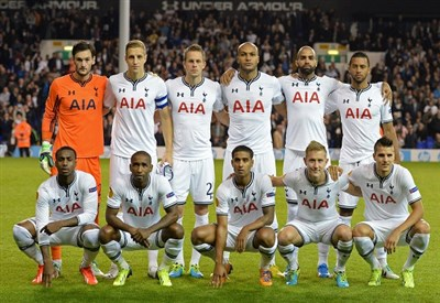 il Tottenham schierato prima della sfida contro il Tromso (Infophoto)
