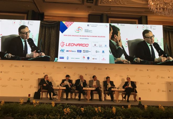 Massimo Carboniero (Ucimu) all'Asean-Italy Dialogue di Singapore