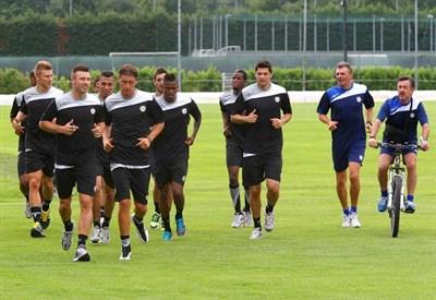 L'Udinese si allena in ritiro (Infophoto)