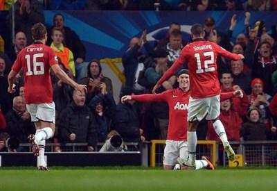 Lo United esulta (Infophoto)