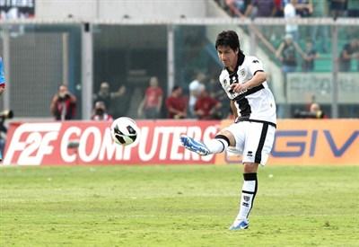 Jaime Valdes, 32 anni, centrocampista cileno del Parma (infophoto)