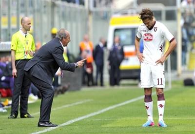 Giampiero Ventura, allenatore del Torino, con Alessio Cerci (Infophoto)