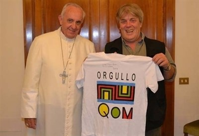 Gustavo Vera con Papa Francesco (foto G. Vera)