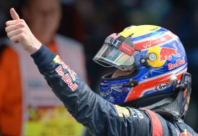 Mark Webber festeggia (Infophoto)