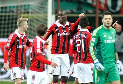 Mario Balotelli, attaccante del Milan (Foto Infophoto)