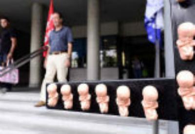 Una manifestazione contro l'aborto