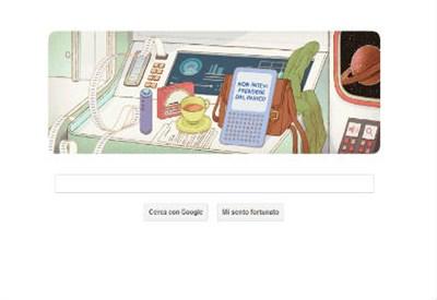 Il doodle dedicato a Douglas Adams