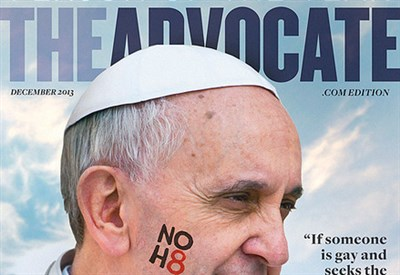 La copertina di dicembre di Advocate (foto: www.advocate.com)