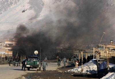 Attack in Afghanistan  (Infophoto)