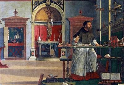 V. Carpaccio, Agostino nello studio (1502) (Immagine dal web)
