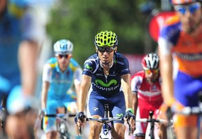 Alejandro Valverde, 34 anni, quarto in classifica generale (Infophoto)