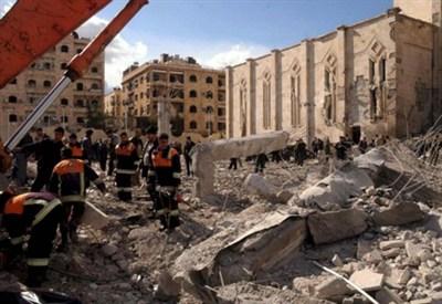 Le rovine nella Siria di Assad (Foto: Infophoto)