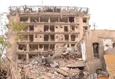 L'effetto dei bombardamenti su Aleppo (InfoPhoto)