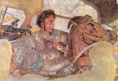 Alessandro Magno nel mosaico della battaglia di Isso, Pompei (I sec. a.C.)