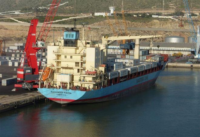 L'Alexander Maersk è attraccata a Pozzallo