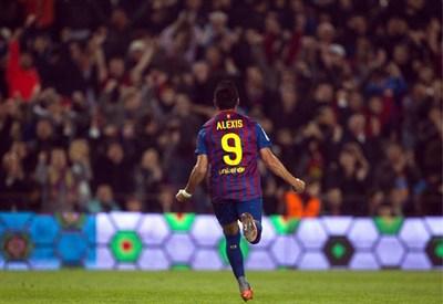 Alexis Sanchez, attaccante del Barcellona (Infophoto)