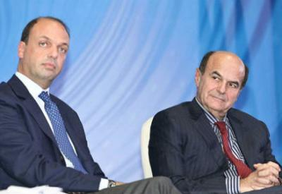 Alfano e Bersani (Foto Infophoto)