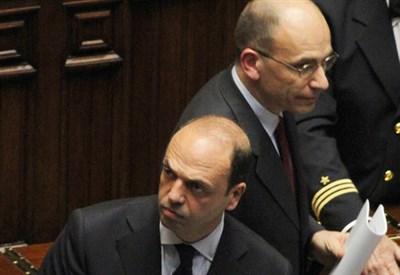Enrico Letta e Angelino Alfano (infophoto)