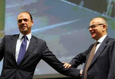 Angelino Alfano e Gianfranco Rotondi