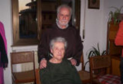 Elena Amisano con padre Emmanuel
