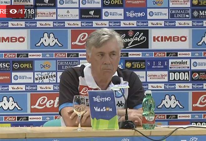 Prima conferenza stampa di Carlo Ancelotti