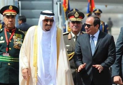 Salman dell'Arabia Saudita con Al Sisi (LaPresse)