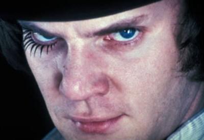 """Alex, il protagonista di """"Arancia meccanica"""" di Stanley Kubrick (Immagine d'archivio)"""