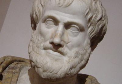 Busto raffigurante Aristotele (384-322 a.C.; immagine d'archivio)