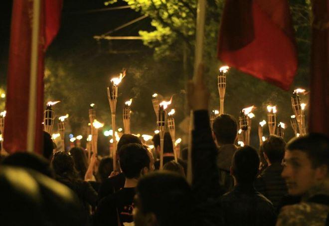 Processione in memoria del genocidio, Yerevan 2017 (LaPresse)