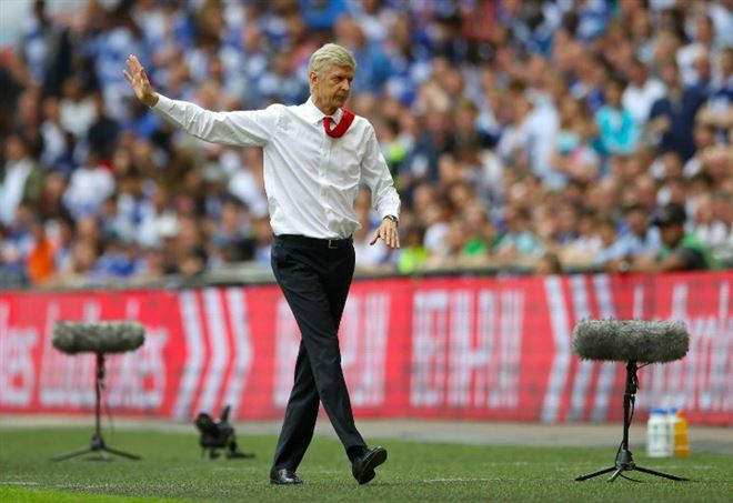 Arsene Wenger, allenatore Arsenal - LaPresse
