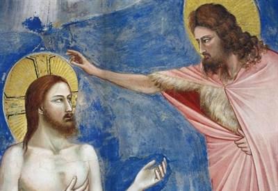 Giotto, Battesimo di Gesù (particolare), Cappella degli Scrovegni (1303-05)