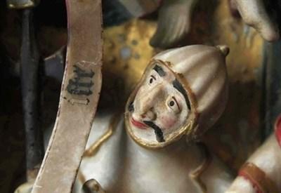 Urge un restauro (Trittico della passione, Napoli Museo di Capodimonte) (Infophoto)