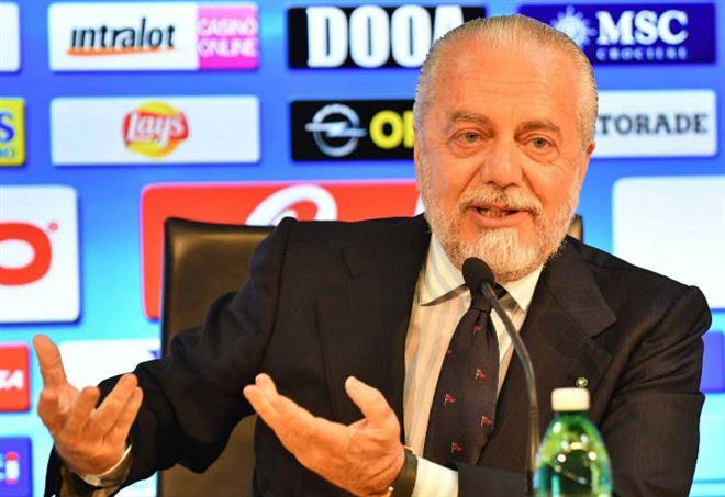 De Laurentiis sul calciomercato - La Presse